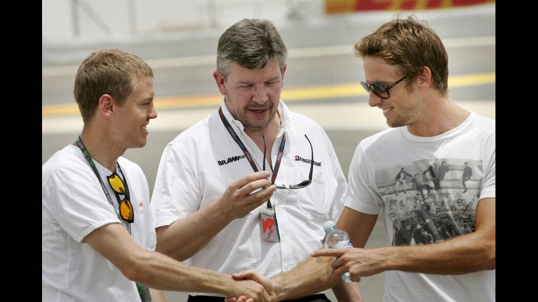 Vettel, Button & Brawn