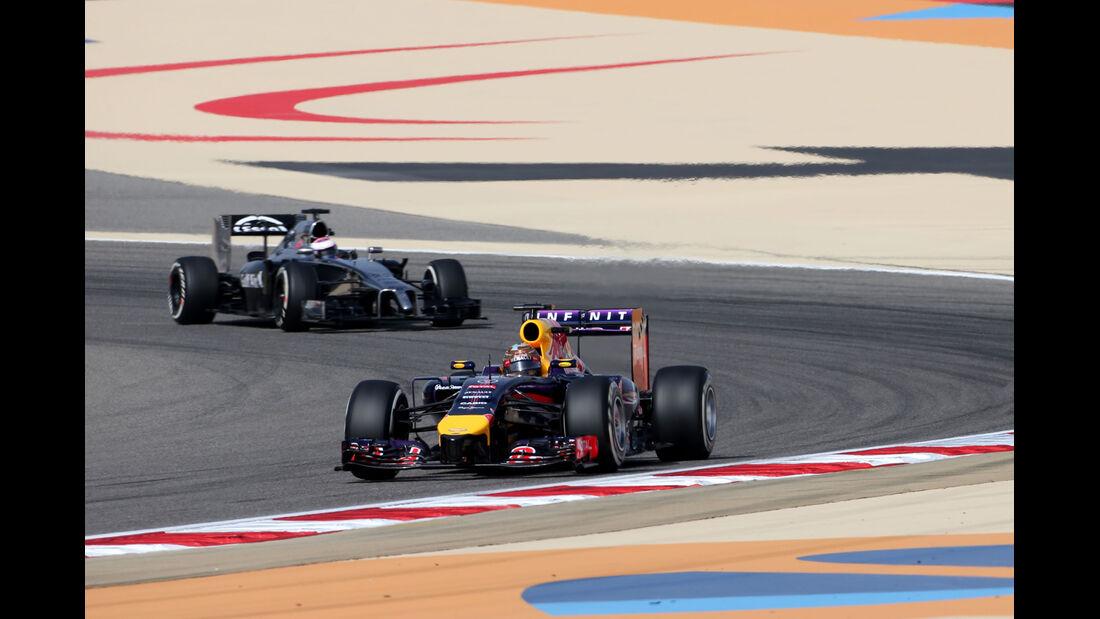 Vettel & Button - Formel 1 - GP Bahrain - Sakhir - 4. April 2014