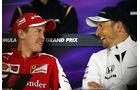 Vettel & Button - Formel 1 - GP China - Shanghai - 9. April 2015