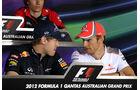Vettel & Button - GP Australien - Melbourne - 15. März 2012