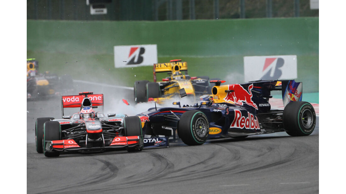 Vettel Button GP Belgien