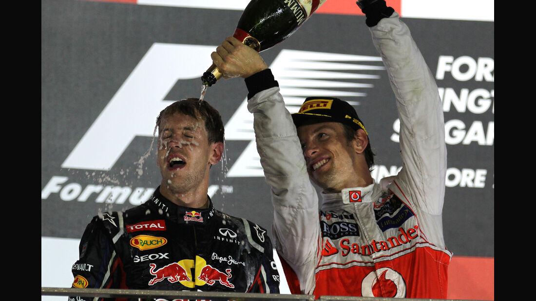 Vettel & Button - GP Singapur 2012