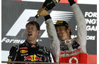 Vettel & Button - GP Singapur 2012