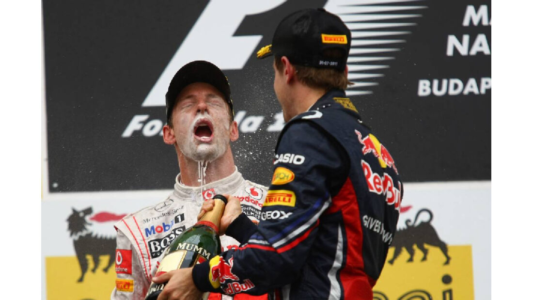 Vettel Button - GP Ungarn - Formel 1 - 31.7.2011 - Highlights