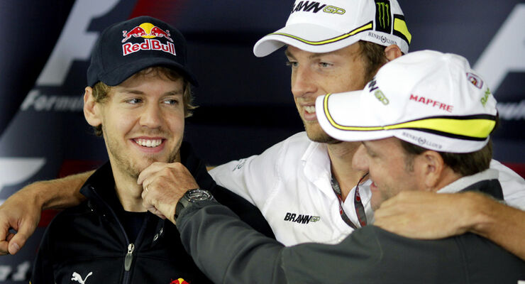 Vettel, Button und Barrichello