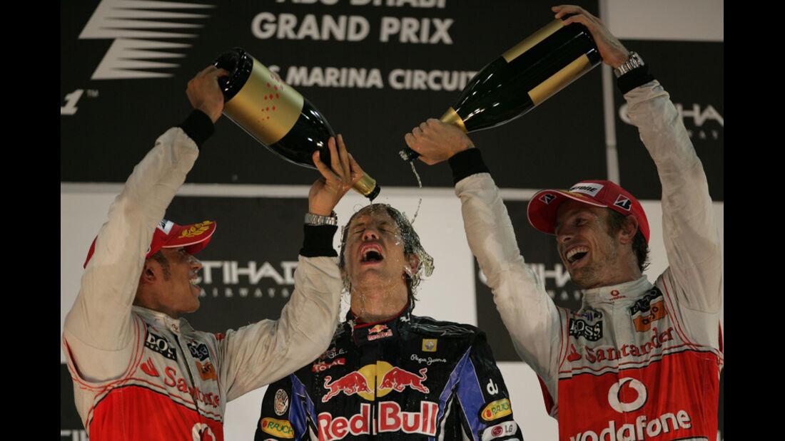Vettel Champagnerdusche