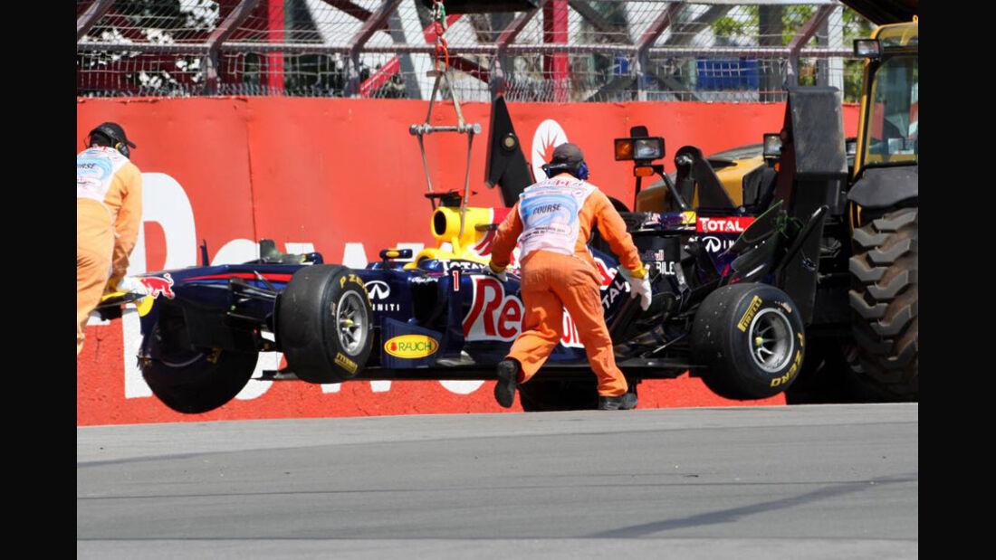 Vettel Crash - GP Kanada 2011