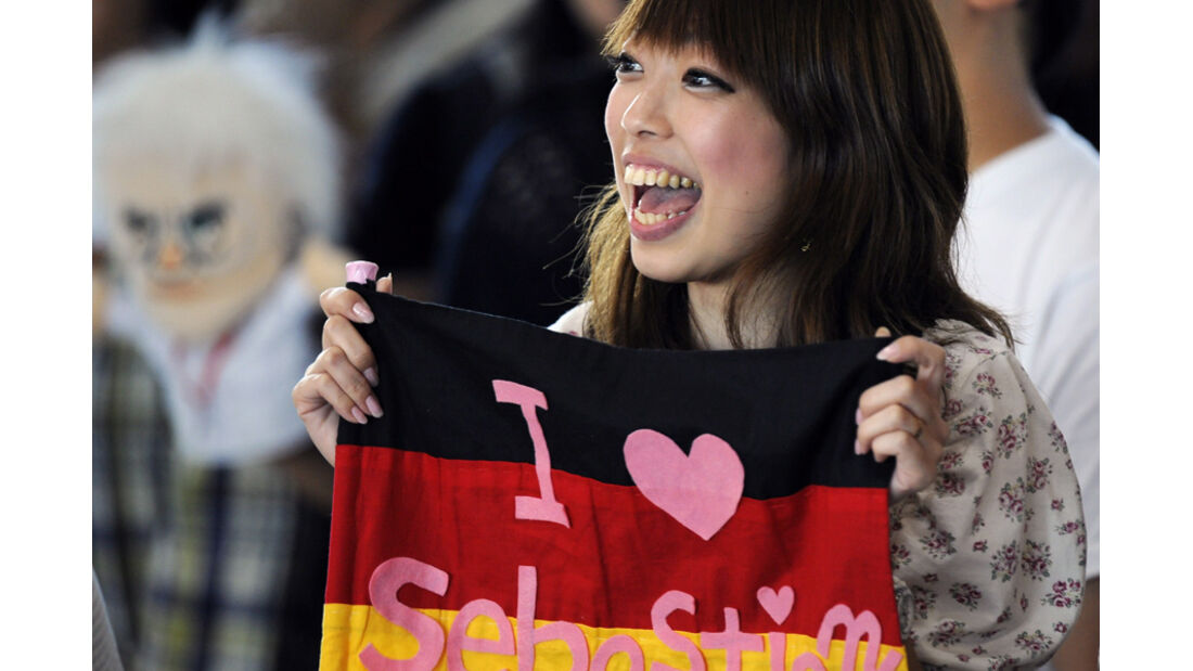Vettel-Fan WM-Feier GP Japan 2011