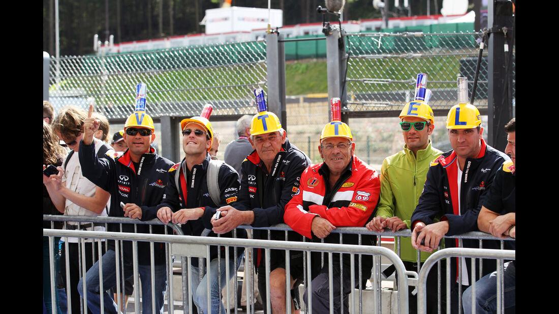 Vettel-Fans - Formel 1 - GP Belgien - Spa - 30.8.2012
