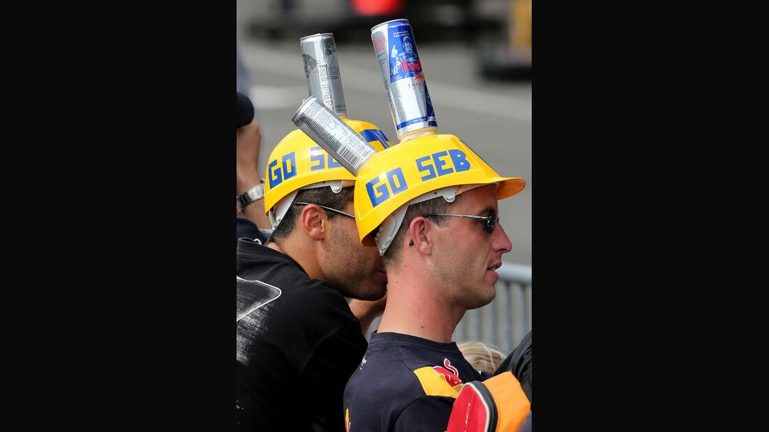 Vettel-Fans - Formel 1 - GP Belgien - Spa-Francorchamps - 22. August 2013
