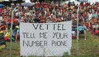 Vettel-Fans - GP Spanien 2014