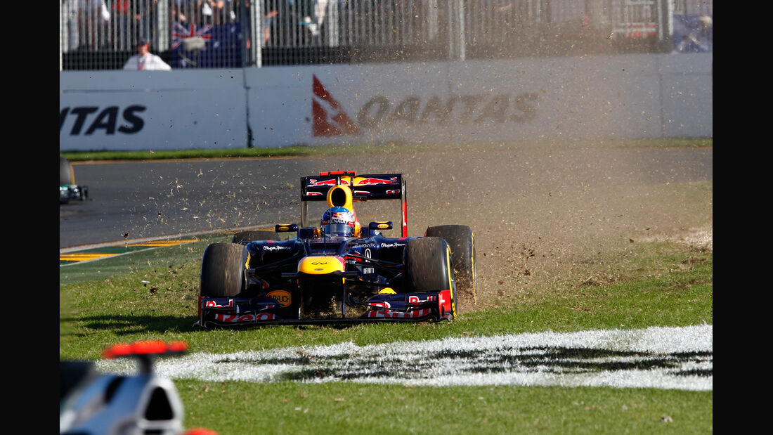 Vettel GP Australien F1 Crashs 2012