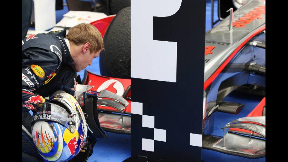 Vettel - GP Ungarn - Formel 1 - 31.7.2011 - Highlights