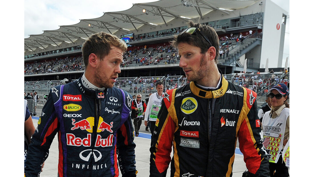 Vettel & Grosjean - Formel 1 - GP USA - 16. November 2013