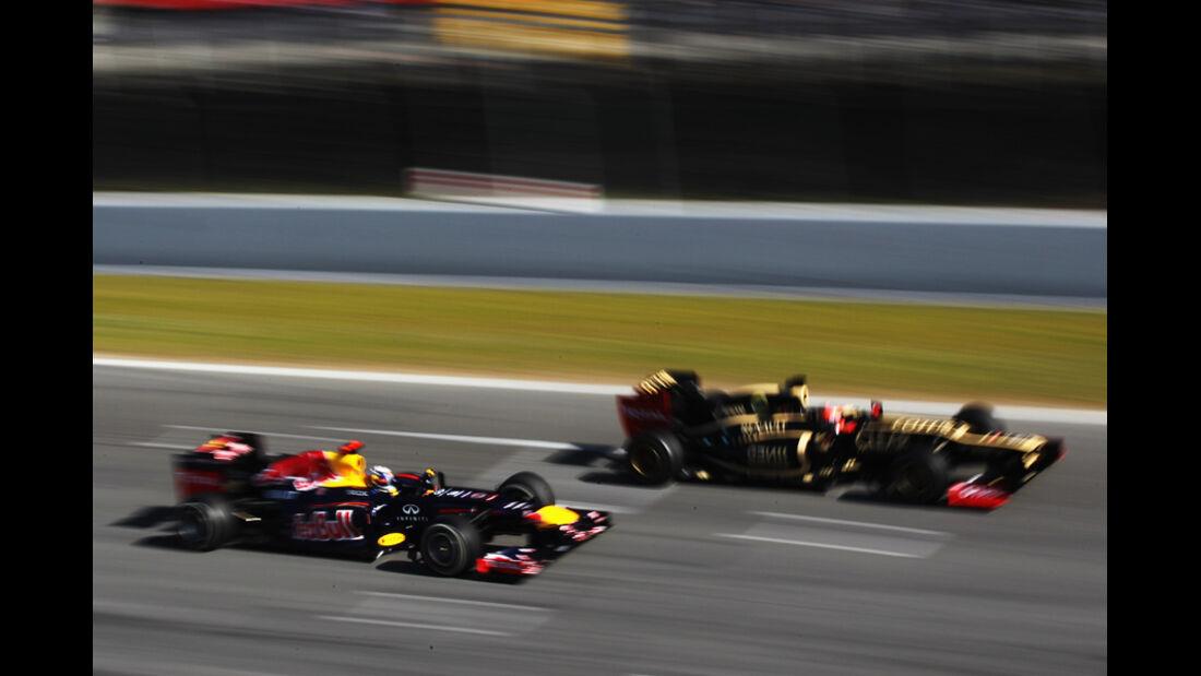 Vettel & Grosjean - Formel 1-Test - Barcelona - 2012