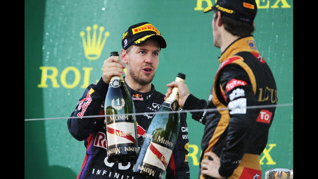 Vettel & Grosjean - GP Japan 2013