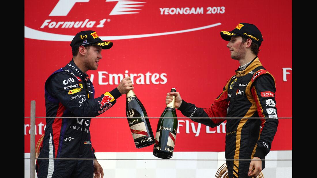 Vettel & Grosjean - GP Korea 2013
