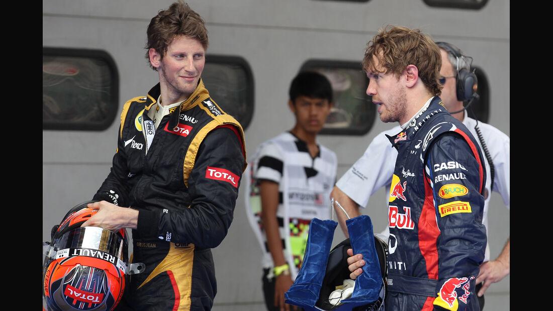 Vettel & Grosjean - GP Malaysia - 24. März 2012