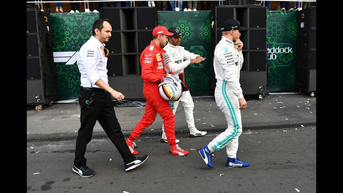 Vettel, Hamilton & Bottas - GP Mexiko 2019