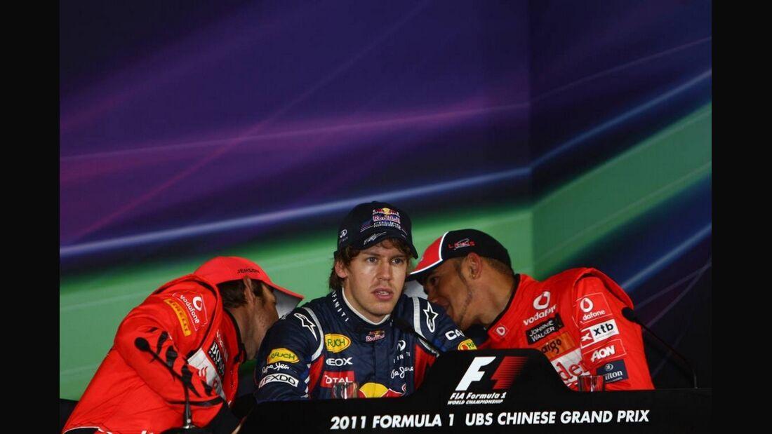 Vettel Hamilton Button GP China 2011