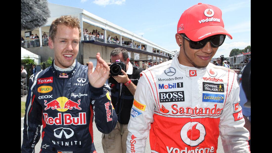 Vettel & Hamilton - Formel 1 - GP Kanada - 10. Juni 2012