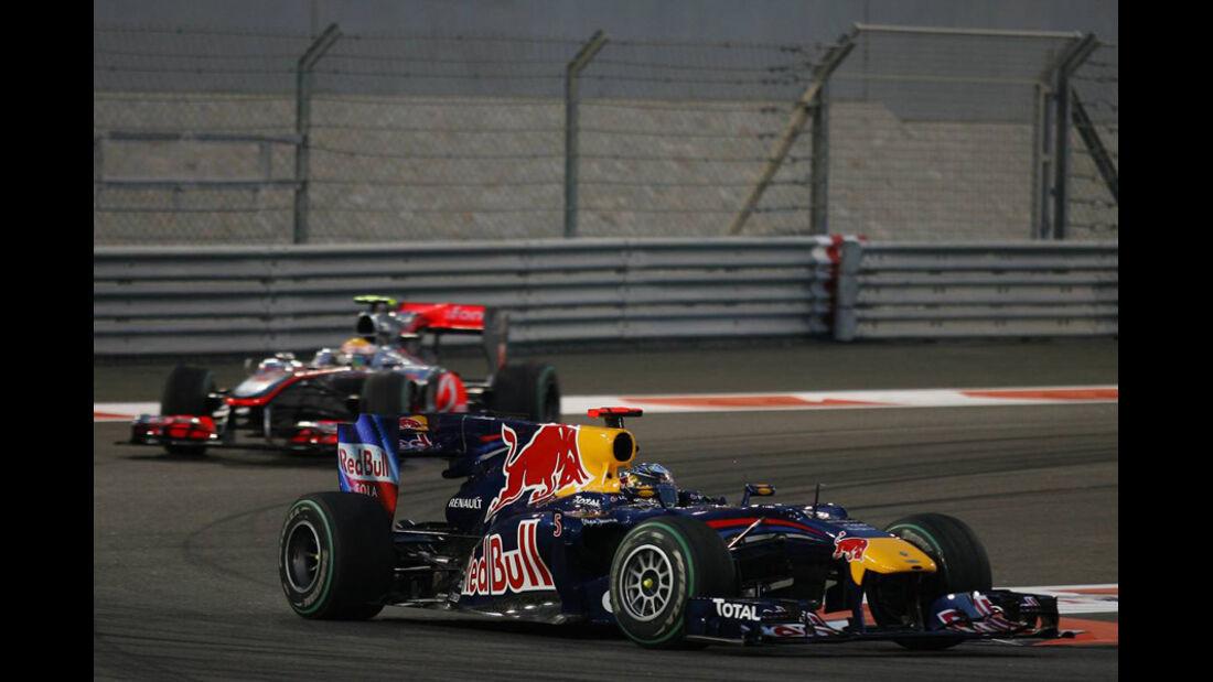 Vettel Hamilton GP Abu Dhabi 2010