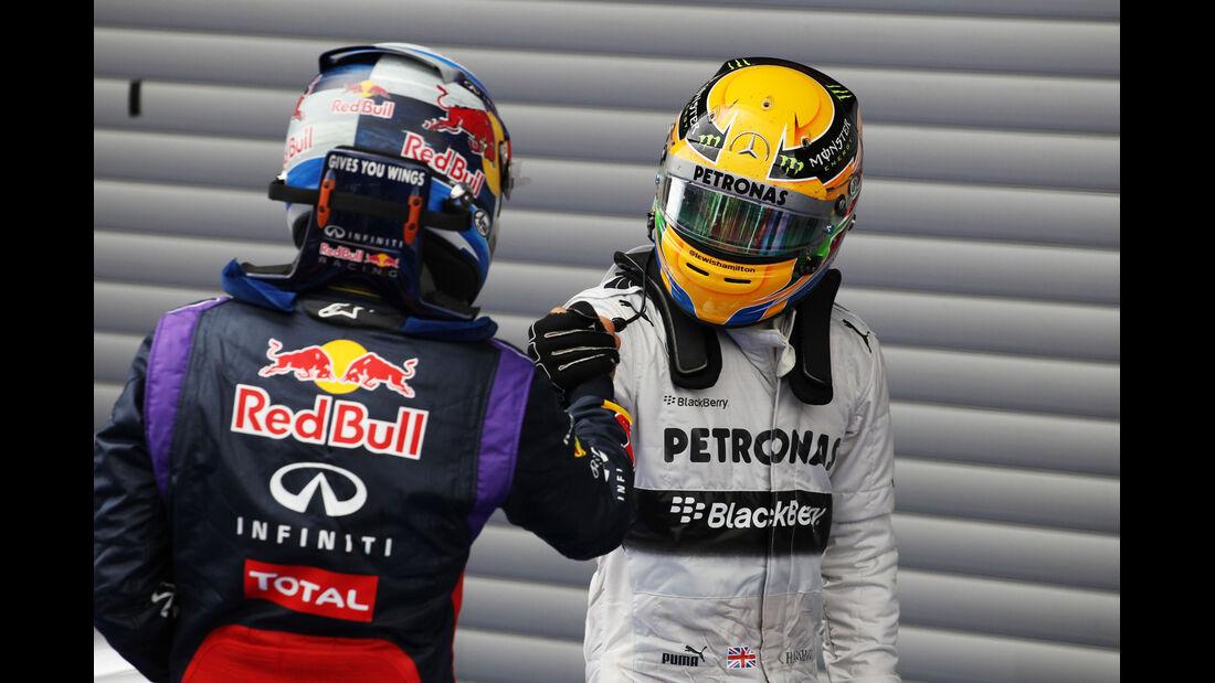 Vettel & Hamilton - GP Belgien 2013