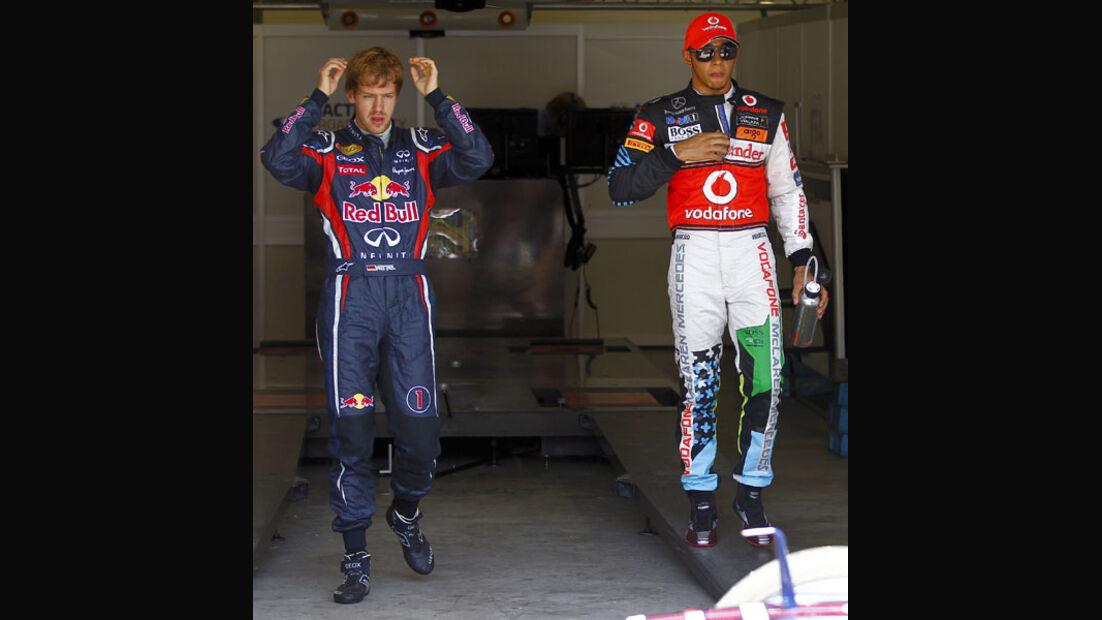 Vettel & Hamilton - GP Europa - Qualifying - 25. Juni 2011