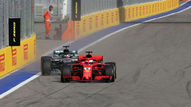 Vettel - Hamilton - GP Russland 2018 - Sotschi - Rennen