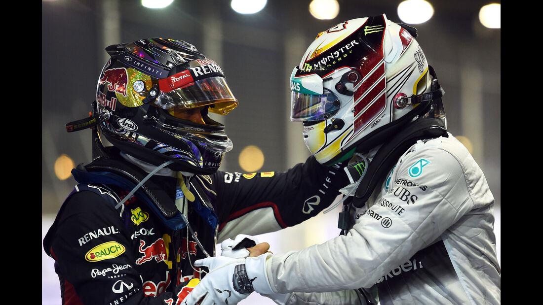 Vettel & Hamilton - GP Singapur 2014
