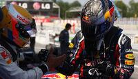 Vettel Hamilton GP Spanien 2011 Rennen