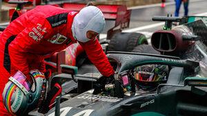 Vettel - Hamilton - GP Türkei 2020 - Istanbul - Rennen