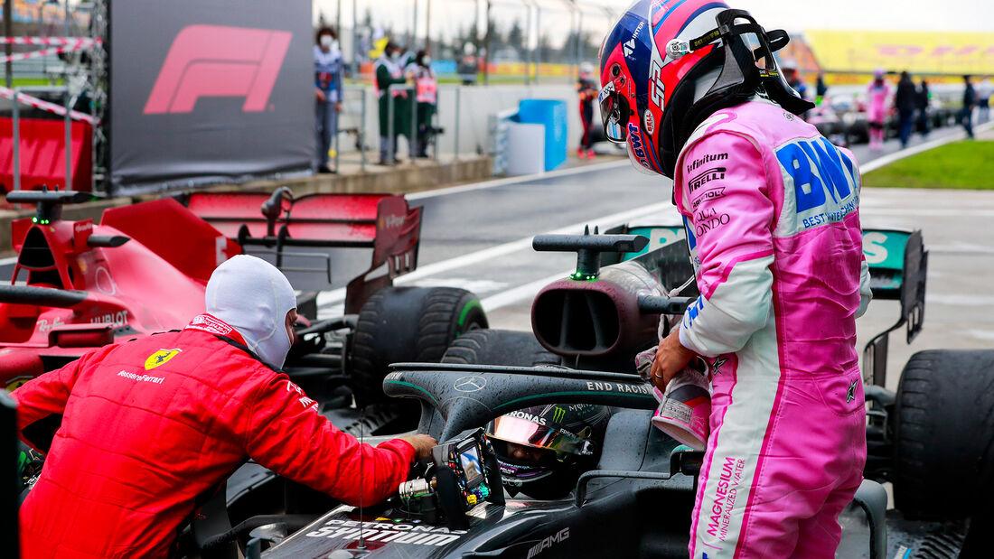 Vettel - Hamilton - Perez - GP Türkei 2020 - Istanbul - Rennen