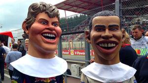Vettel & Hamilton - Puppen - GP Belgien 2013