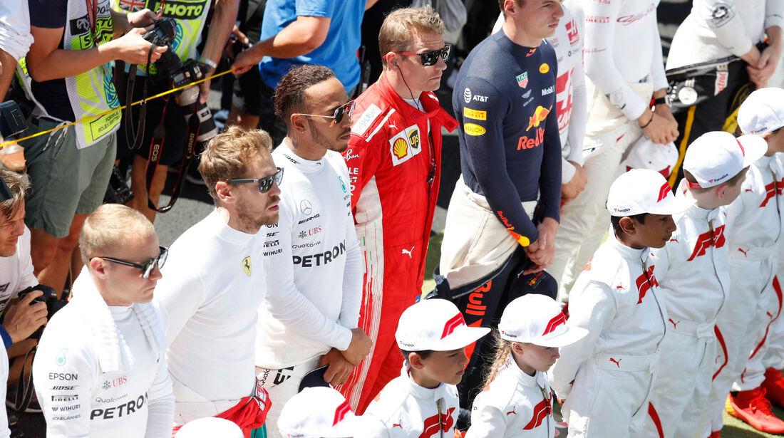 Vettel - Hamilton - Räikkönen - GP England 2018 - Silverstone - Rennen