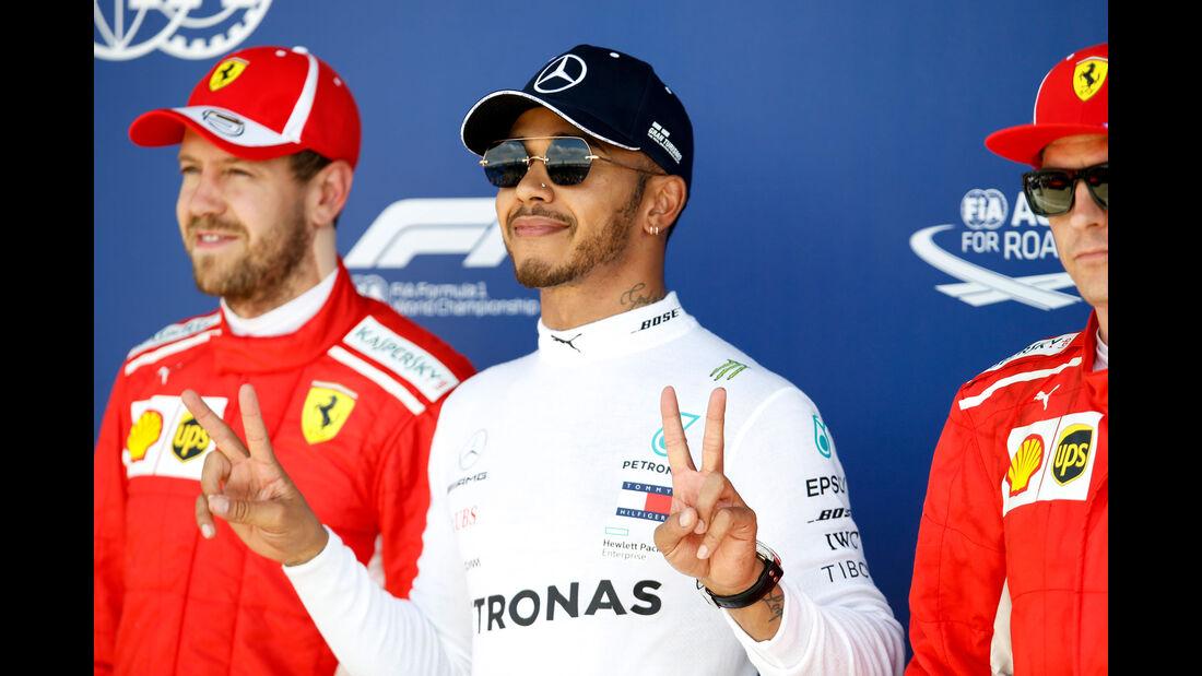 Vettel - Hamilton - Räikkönen - GP England - Silverstone - Formel 1 - Samstag - 7.7.2018