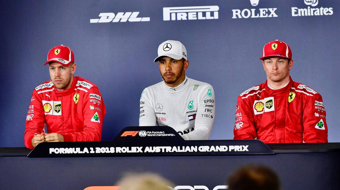 Vettel - Hamilton - Räikkönen - Qualifying - GP Australien 2018 - Melbourne
