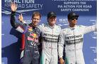 Vettel, Hamilton & Rosberg - Formel 1 - GP Belgien - Spa-Francorchamps - 23. November 2014