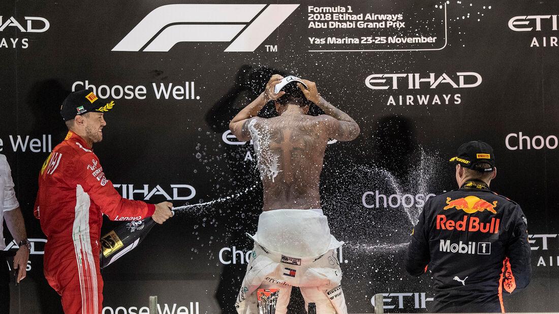Vettel, Hamilton & Verstappen - GP Abu Dhabi 2018