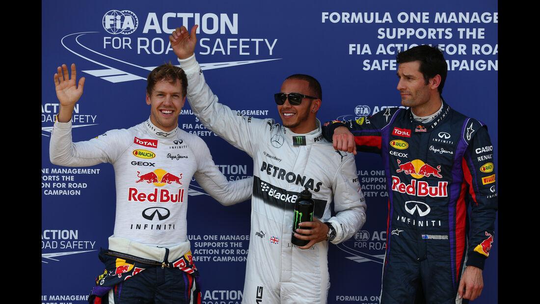 Vettel, Hamilton & Webber - Formel 1 - GP Deutschland - 6. Juli 2013