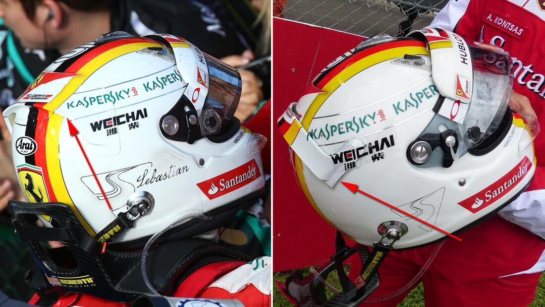 Vettel-Helm - Formel 1-Technik - GP Österreich 2015