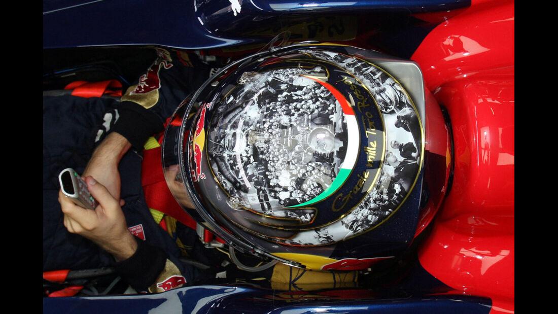Vettel Helm GP Brasilien 2008