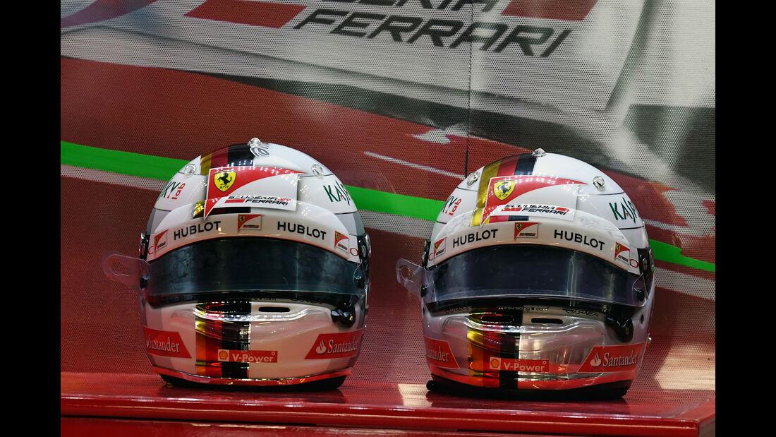 Vettel-Helme - Formel 1 - GP Italien - Monza - 2. September 2016