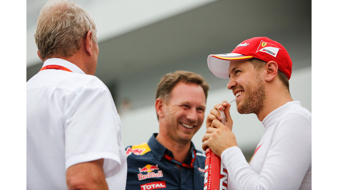 Vettel - Horner - Marko - Formel 1 - GP Japan - Suzuka - Qualifying - Samstag - 8.10.2016