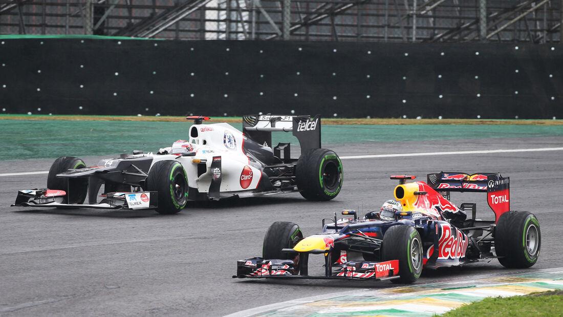 Vettel Kobayashi GP Brasilien 2012