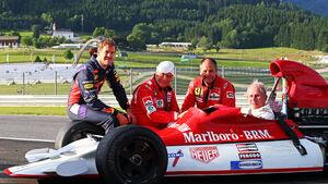Vettel, Lauda, Berger & Marko - BRM P180 - GP Österreich 2014 - Legenden