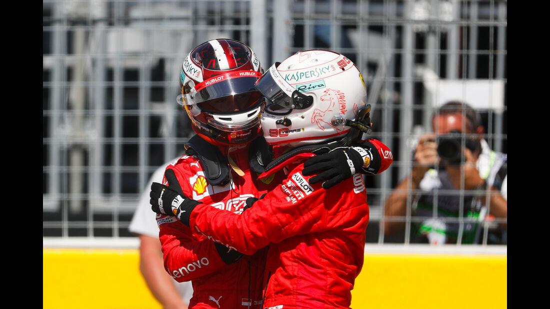 Vettel & Leclerc - Ferrari - Formel 1 - GP Kanada - Montreal - 8. Juni 2019