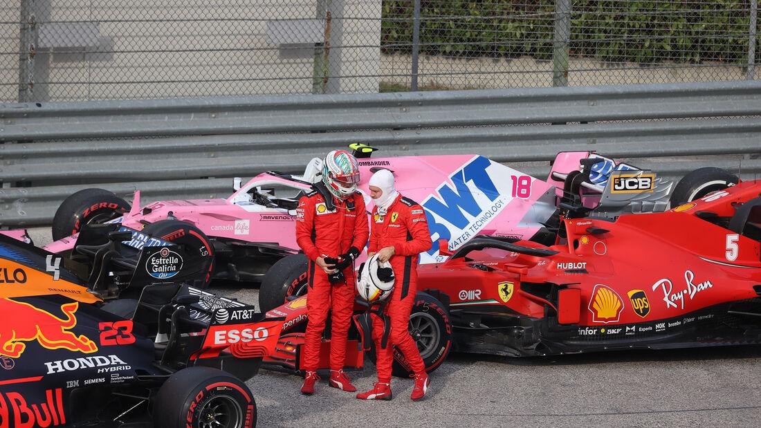 Vettel - Leclerc - Ferrari - GP Emilia-Romagna 2020 - Imola - Rennen