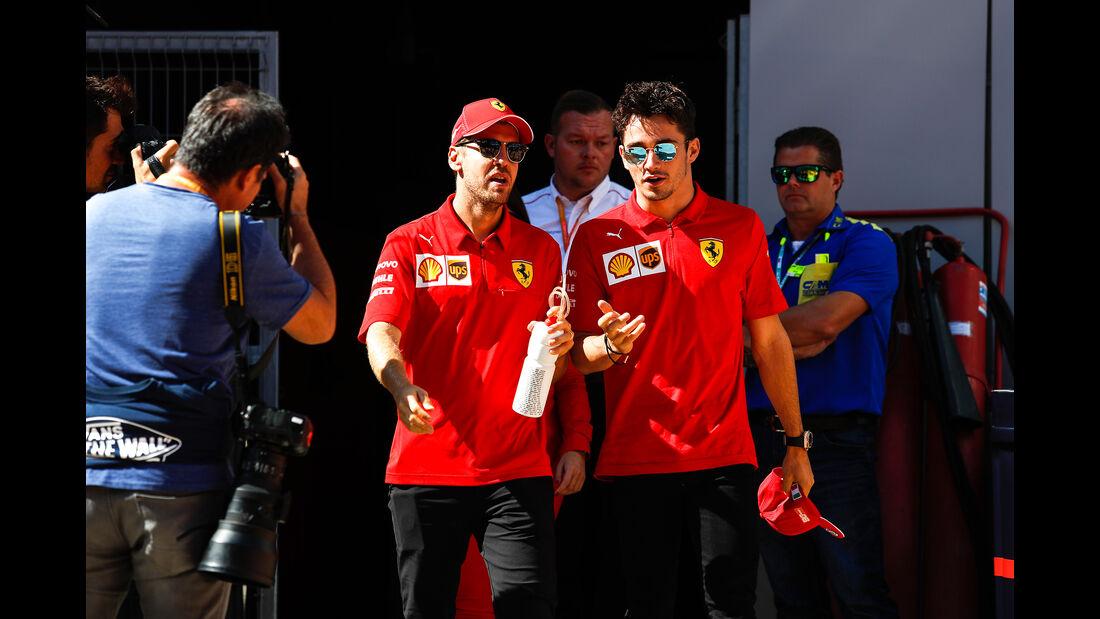 Vettel - Leclerc - Ferrari - GP Russland 2019 - Sochi Autodrom - Rennen