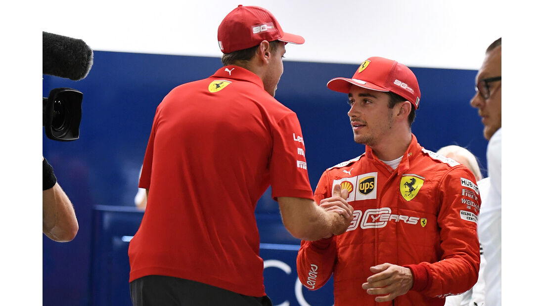 Vettel - Leclerc - Ferrari - GP Singapur 2019 - Qualifying